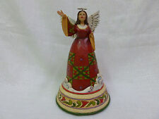 Jim Shore Praise Him With Song Christmas Angel Singing Musical Figurine 4032486