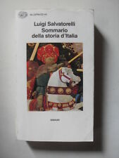 SALVATORELLI SOMMARIO DELLA STORIA D'ITALIA ED. EINAUDI