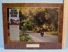 1988 Suzuki Katana Motorcylce Cycle World Wall Thermo Plaque Wall Hanging Dealer