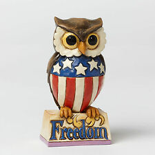 Jim Shore Heartwood Creek Mini Miniature Patriotic Owl 4040713 Nib New America