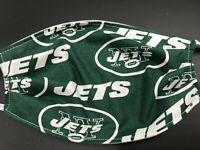 New York Jets Face Mask NY Football Washable Cotton Elastic Reusable Amish Made