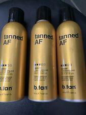 3 Pack B tan Tanned Af Australian 1 Hour Bronzing Mist Vegan Friendly Natural