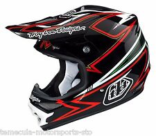 TROY LEE DESIGNS TLD CHARGE AIR HELMET MX BLACK/RED ADULT SMALL 01155408