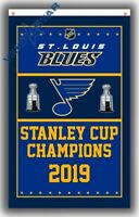 St.Louis Blues CHAMPIONS team Fans flag Hockey banner 90x150cm 3x5ft A4