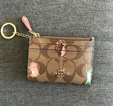 NWT COACH ID Wallet Key Chain Animal Print F79930