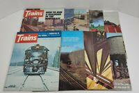 Trains The Magazine Of Railroading Lot Of 9 1974