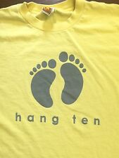 Vintage HANG TEN HUGE LOGO GOLD TAG T SHIRT surf skate large made USA spell out
