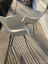 Herman Miller Charles Eames Plastic Arm Shell Chairs White