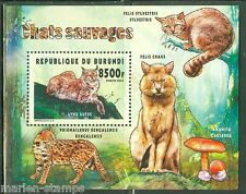BURUNDI   2015 FAUNA OF BURUNDI WILD CATS  SOUVENIR SHEET   MINT  NH