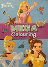 Disney Princess Huge Colouring Book With Story Inside Cindarella Girls Belle New