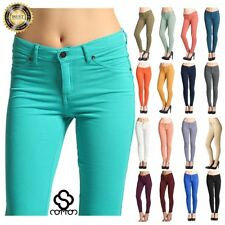 Women's Pencil Stretch Casual Look Denim Skinny Jeans Pants High Waist Trousers