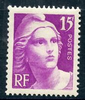 STAMP / TIMBRE FRANCE NEUF N° 727 ** TYPE GANDON 15 FRANCS LILAS ROSE COTE 11 €
