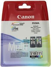Original Genuino Canon PG510 Negro y CL511 Color Cartucho de tinta para Pixma MP480!