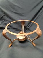 Jos. Heinrichs Solid Copper Chafing Burner and Stand Excellent Condition!