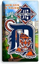 DETROIT TIGERS COMERICA STADIUM PHONE JACK TELEPHONE PLATE COVER BOYS ROOM DECOR