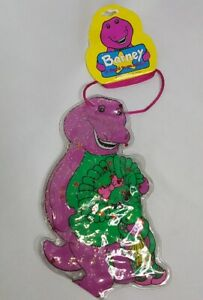 Barney The Purple Dinosaur Carrying Pouch And Hair Ties New Old Stock 1993
