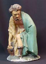 18ème rare sculpture statue personnage religieux 31cm2.5kg jésus Dieu santon +
