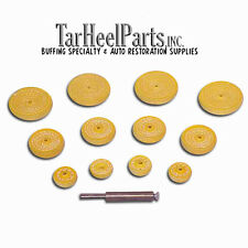 "Midget Buff Kit Yellow Treated 2""  1-1/2""  1""  and Arbor Aluminum Intakes, Brass"