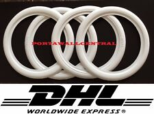 White Wall portawall for 17.5'' inch tyre port a wall insert trim set