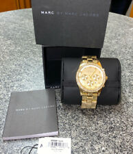 Marc By Marc Jacobs Gold Watch With Diamantes. Brand New