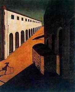 A3 Box Canvas 30x42cm Giorgio de Chirico Melancholy and Mystery of a Street