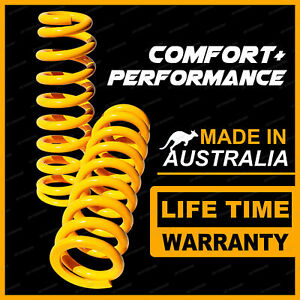 2 Front King Raised Coil Springs 50-100KG for ISUZU D MAX 4WD 2012-On