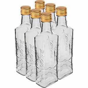6 x 250  ml Flasche mit Kork Glasflasche  für Liköre Likörflaschen Schnapsflasch