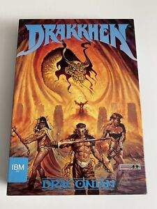 DRAKKHEN*Vintage ROLE PLAYING GAME+Hintbook*Tested And Works*