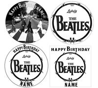 Beatles Personalised Edible Icing Cake Topper 7.5in Precut Round/Square