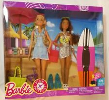 Barbie Pink Passport Barbie Nikki Dolls Camping Adventure Gift Set Surf Beach