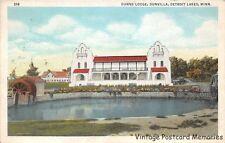 DETROIT LAKES MN 1931 Long Gone Dunn's Lodge @ Dunvilla VINTAGE MINNESOTA RESORT