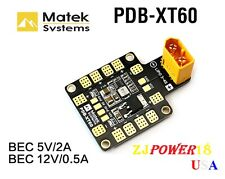 Matek Systems PDB XT60 W/ BEC 5V & 12V For RC Helicopter Quadcopter