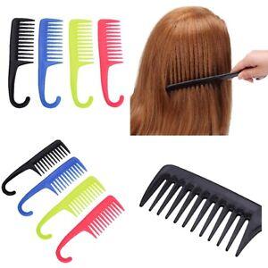 Wide Tooth Shower Comb Detangler Wet Curly Hair Brush Salon Hairdressing Comb UK