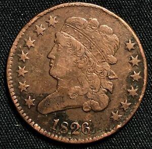 1826 Classic Head Half Cent Philadelphia Mint Very Fine Condition