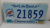 Minnesota Red Lake Chippewa Indians License Plate # 21859 With 2013 Tabs