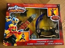 Power Rangers Ninja Storm Thunder Staff Sabre Tonnerre Force Cyclone RARE NEW