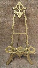 Vintage solid brass Victorian ornate picture frame easel display holder