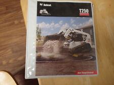 Bobcat T190 operators & maintenance manual, track skid steer loader