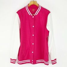 Rebdolls Plus Size Pink and White Varsity Style Sweater Jacket Womens Size 3X