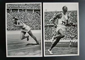 RARE: Jesse Owens Set of 6 cigarette cards Reemtsma Sammelwerk mint !