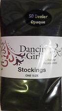 Dancing Girl One Size Opaque 50 Denier Black Stockings with Lycra