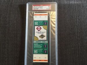 1993 full unused psa 9 mint Ticket Game 3 Phillies Blue Jays no global shipping