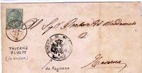 1873 c. 5 DLR - lettera da Magisano - annullo 2C Taverna (Catanzaro)