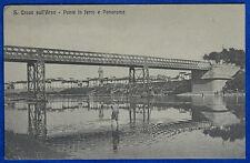 SANTA CROCE SULL'ARNO Ponte di Ferro animata viaggiata anni 10 f/p #20349
