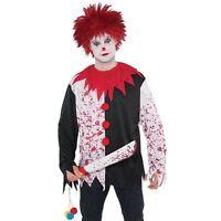 Evil Clown Red Wig Spiky Tresses Halloween Adult Mens Fancy Dress Costume
