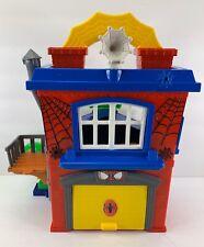 Playskool Marvel Spiderman Adventures Spider-Man Green Goblin Headquarters Rare