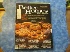 VINTAGE BETTER HOMES AND GARDENS MAGAZINE October 1976 DELICIOUS BAKED GOODS