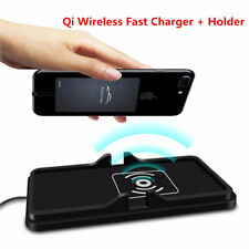 Qi Wireless Fast Charger Car Dashboard Holder Mount Non-Slip Pad Mat for Samsung