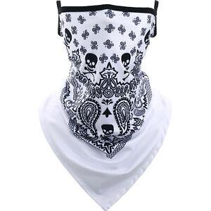 Face Mask Neck Gaiter Motorcycle Sunscreen Skull Scarf Tube Bandana UV Headwear
