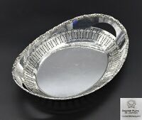 """DAINTY OVAL BARKER BROS TWIN HANDLE BREAD SWEETS NUTS DISH BOWL 11"""" SILVER PLATE"""